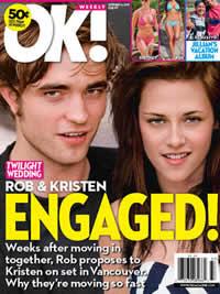 Robert Pattinson e Kristen Stewart noivos