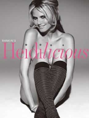 Heidi Klum nua na capa do livro Heidilicious