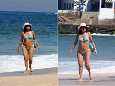 Betty Faria de biquini nas praias do Rio de Janeiro