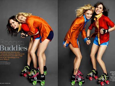 Selinho: Drew Barrymore e Ellen Page na Marie Claire