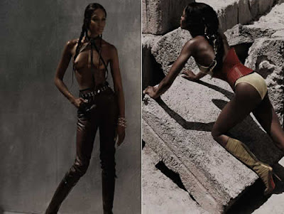 Naomi Campbell seminua: Guerreira Sensual