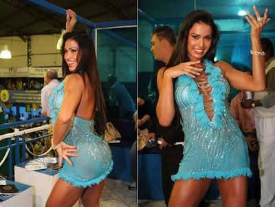 Vestido transparente: Gracyanne Barbosa no samba