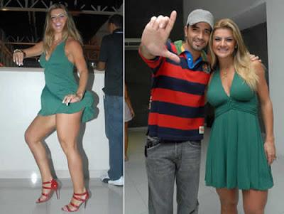 Vestido curtíssimo: Mirella cai no samba