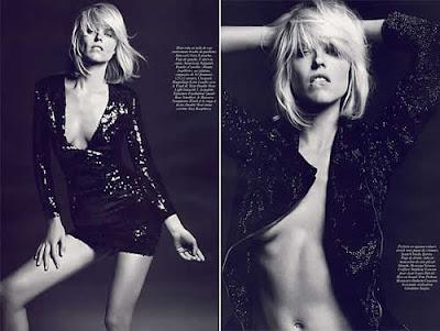 Topless: Eva Herzigova em ensaio sensual na Vogue