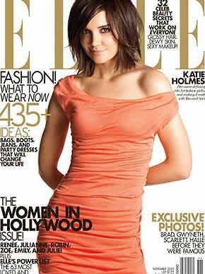 Katie Holmes: Capa da Elle