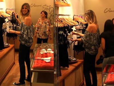 Ellen Jabour compra lingerie na Ci dessous