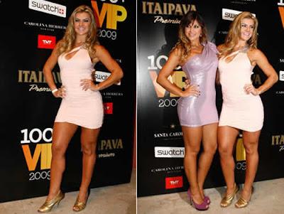 Micro Vestido: Mirella Santos e Danielle Souza na festa da VIP
