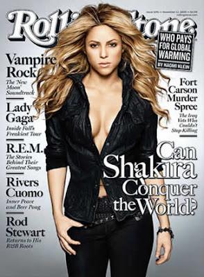 Decote de Shakira na Rolling Stone