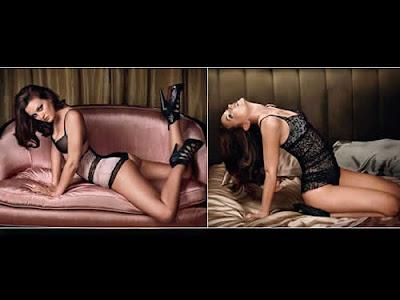 Leighton Meester de lingerie na GQ Magazine