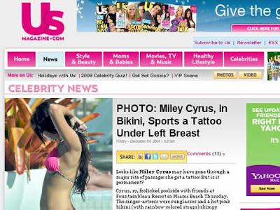 Tatuagem de Miley Cyrus é homenagem à amiga