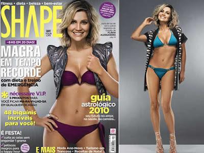 Flávia Alessandra: Corpo sarado na revista Shape