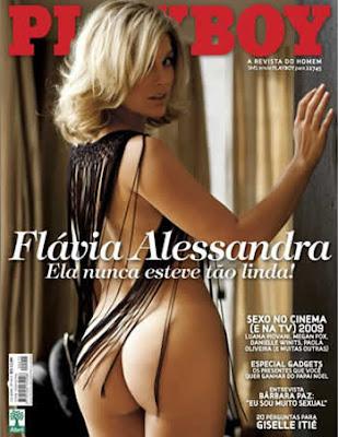 Capa da Playboy com Flávia Alessandra