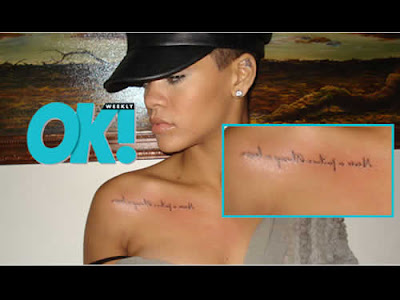 Nova tatuagem de Rihanna