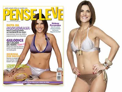 Helena Fernandes corpo sarado na revista Pense Leve