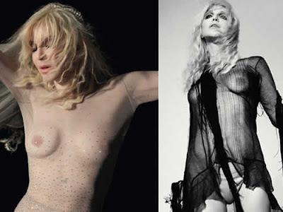 Courtney Love de topless em revista