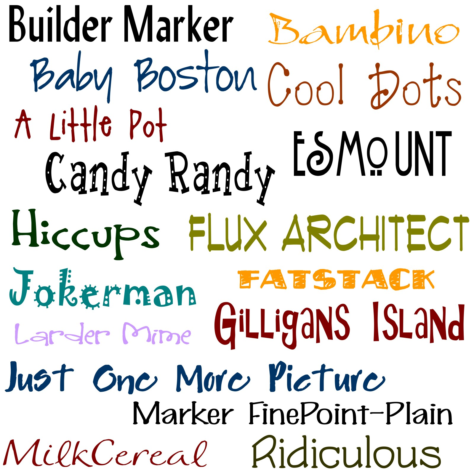 My name is colette and i m addicted to fonts