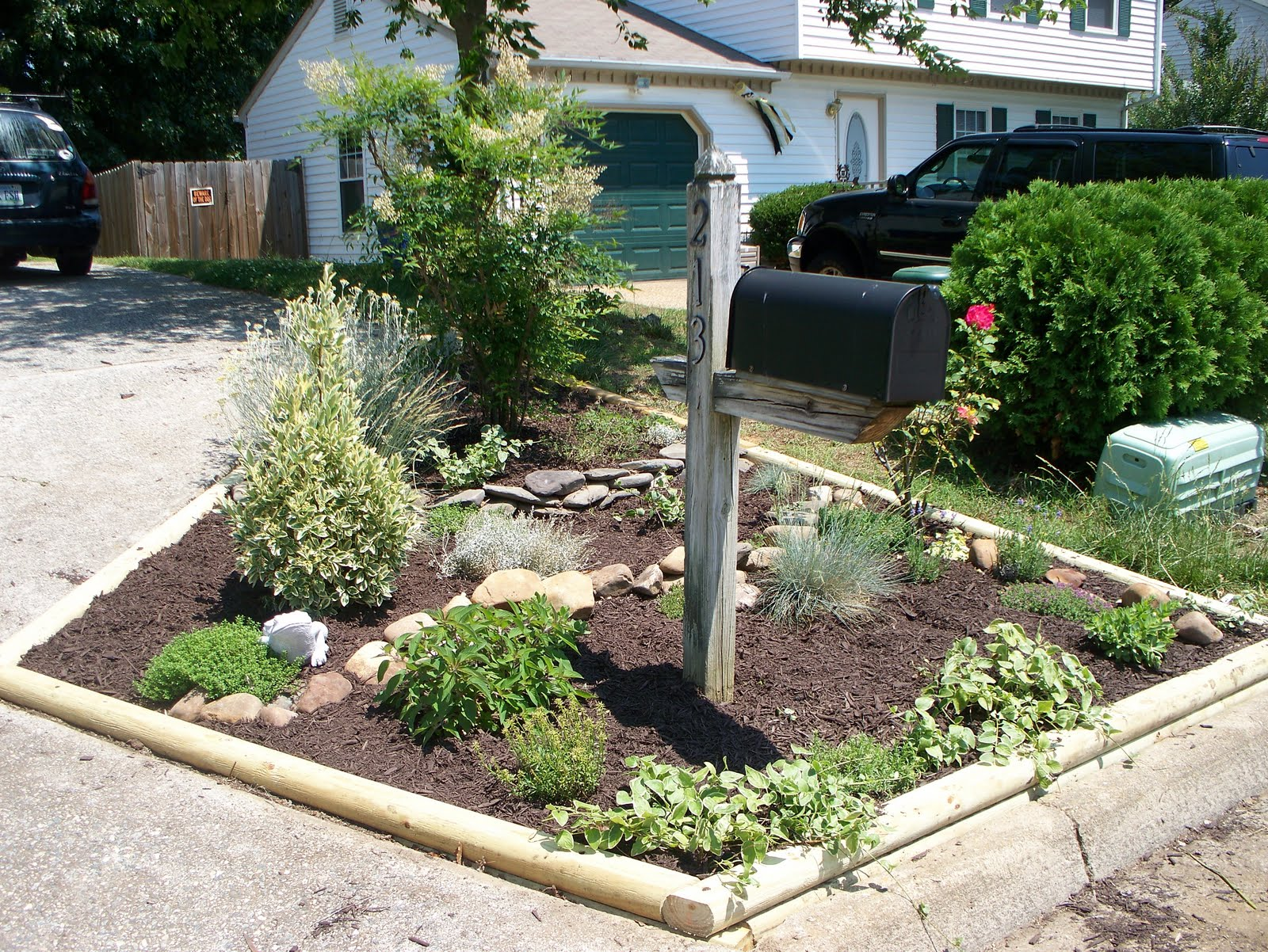 design plan landscaping ideas for mailbox area details
