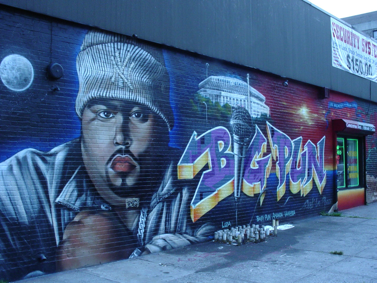 The kool skool tats cru big pun mural remix for Eminem wall mural