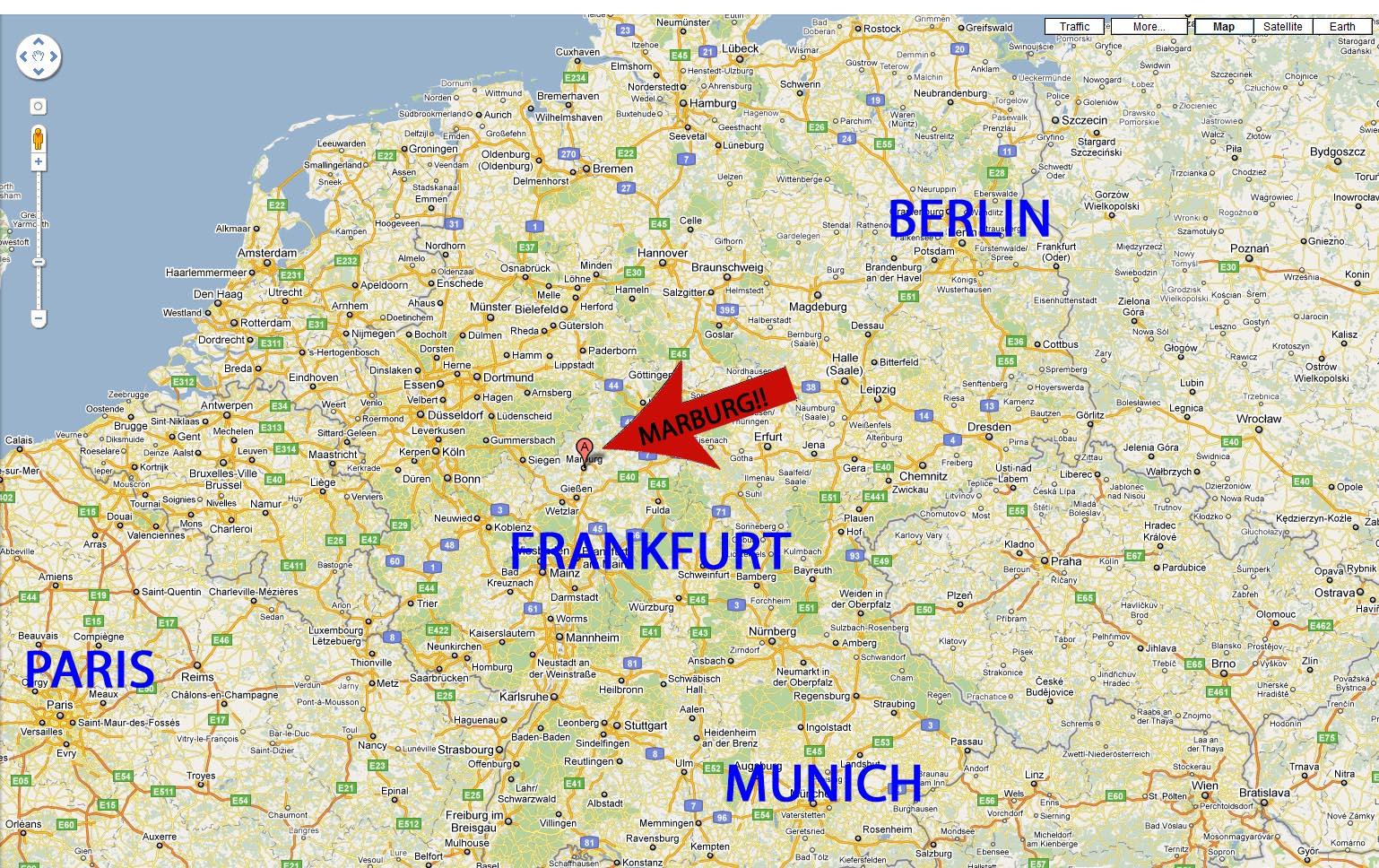 Image Gallery Marburg Map