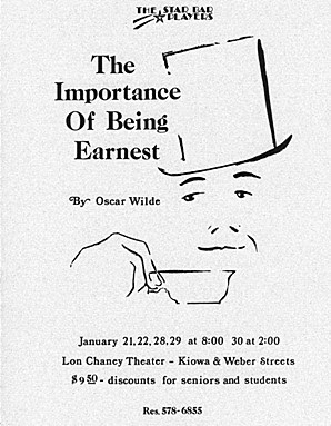 a summary of the play the importance of being earnest by oscar wilde The importance of being earnest is a 2002 british-american romantic comedy-drama film directed by oliver parker, based on oscar wilde's classic comedy of manners the importance of being earnest the original music score is composed by charlie mole.