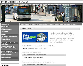 City of Madison : Metro Transit Tracker With Real time Information
