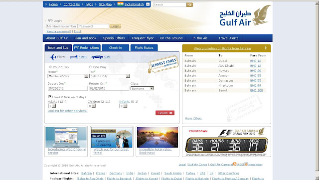 Gulf Air Online Booking - Bookings.GulfAir.com - Reservations and Tickets