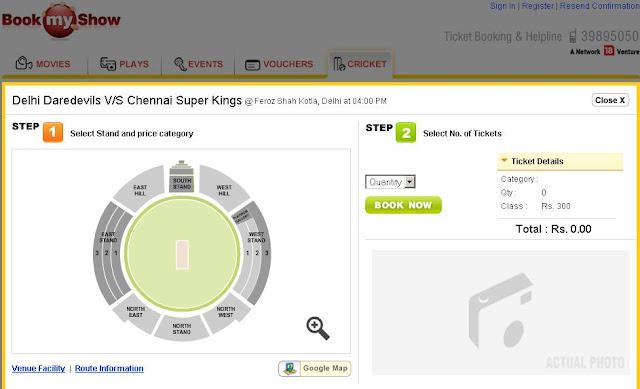 IPL Tickets 2010 - Buy Ipl Tickets Online - Book IPL Match Tickets