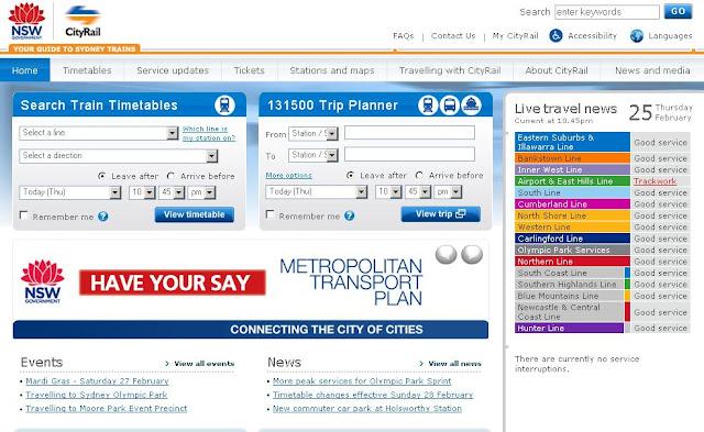 CityRail Trip Planner for Sydney : www.cityrail.info Trip Planner