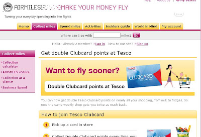Tesco Airmiles Account - AirMiles.co.uk/Tesco