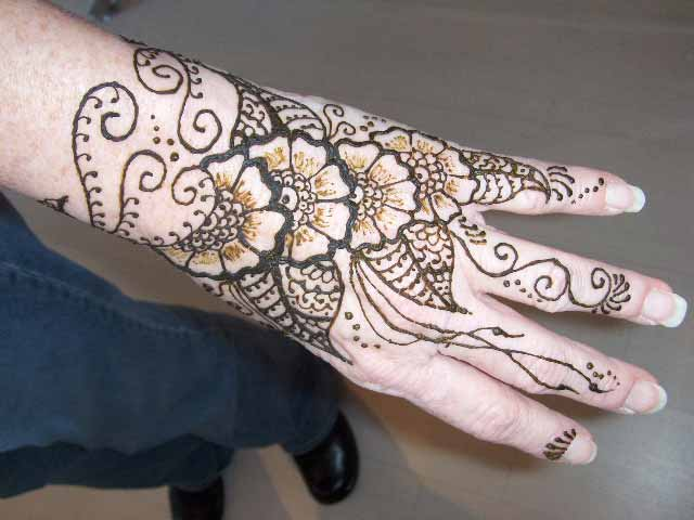 Mehndi Flower Arrangements : Flower mehndi designs henna pictures falls