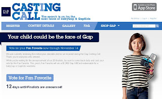 Gap Casting Call Sweepstakes on Gapcastingcall.com
