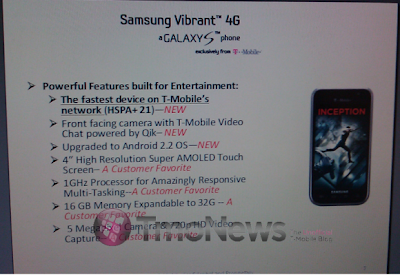 Samsung & T-Mobile to launch New Vibrant Plus