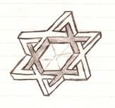 Star Of David Made From Six Impossible Triangles