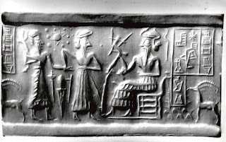 Sumerian Cylinder Seal Hexagram