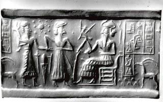 Sumerian Cylinder Seal Hexagram