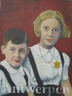 Betty And Henri 1942 ART Yellow Badge