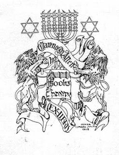 Stars of David Menorah bookplate