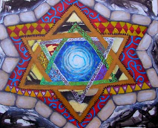 Star of David Mandala Israeli art