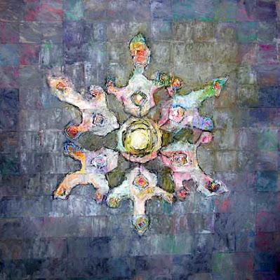 מנדלה, גם מגן דוד וגם ציור אמנות ישראלית