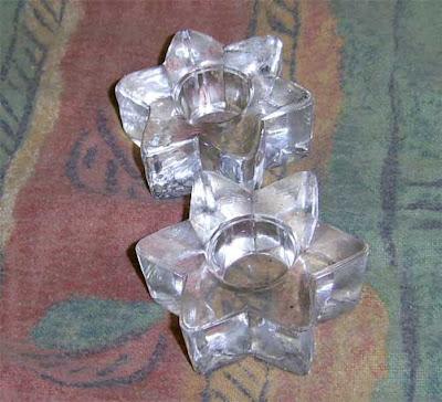 פמוטים מזכוכית בצורת מגן דוד