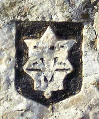 Star of David engraved in rock