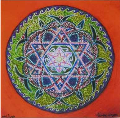 mandala-Israeli art-jewish-star