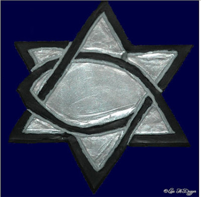 hexagram fish Christian logo