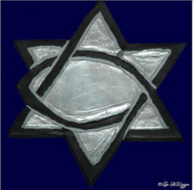 hexagram fish Christian logo