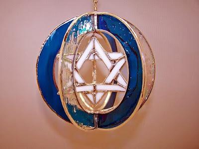עבודת זכוכית מוצלחת במיוחד מגן דוד