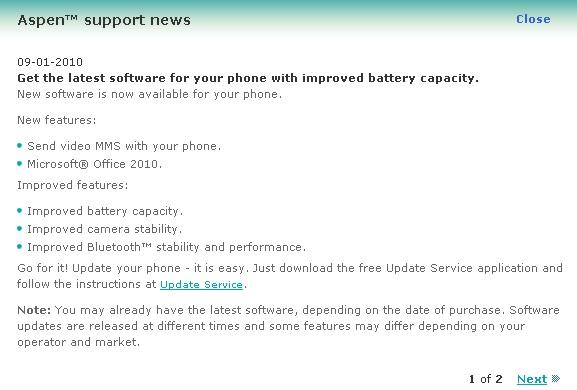 Sony Ericsson M1i прошивка
