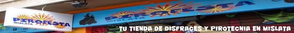 TIENDA DE PIROTECNIA Y DISFRACES PIROFESTA