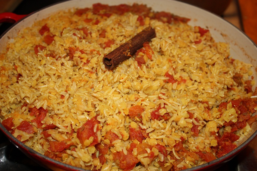 Vegan Epicurean: Indian Spiced Red Lentils and Brown Rice