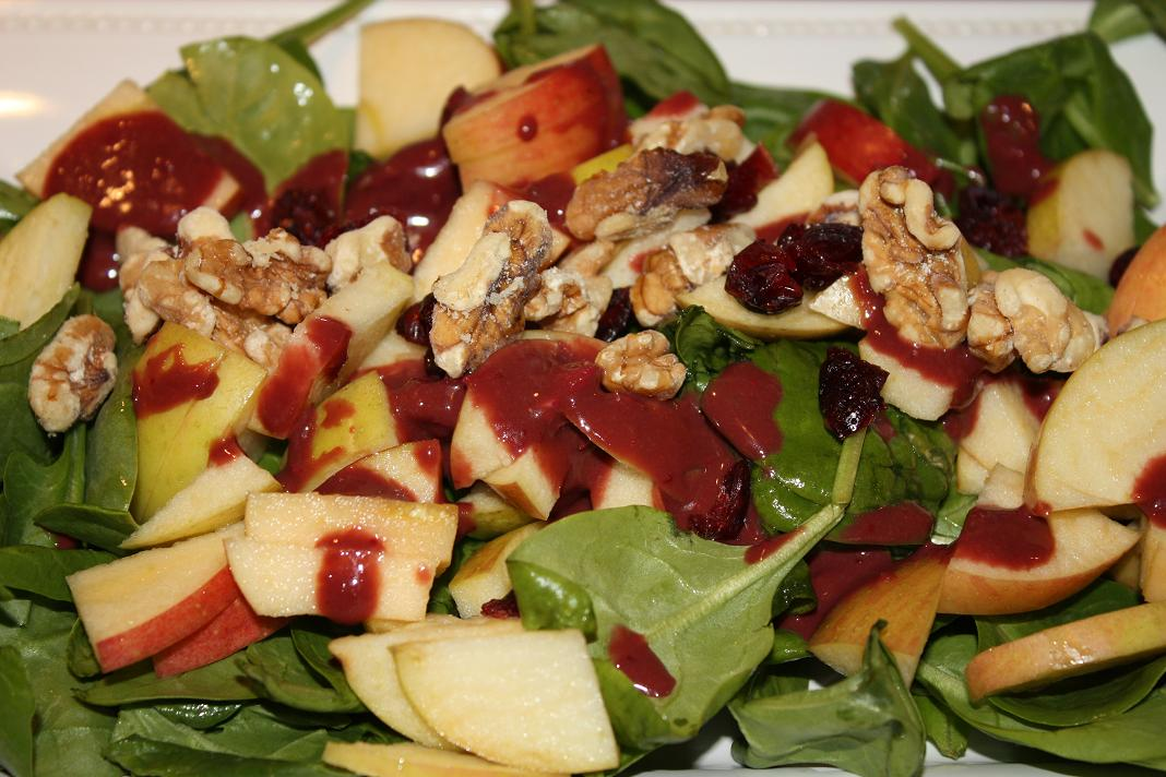 ... , Apple, Dried Cranberry and Walnut Salad with Cranberry Vinaigrette