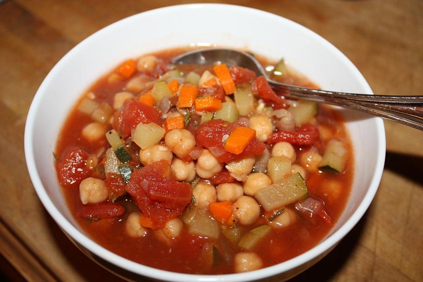 Vegan Epicurean: Italian Chickpea and Zucchini Soup in a Tomato Base